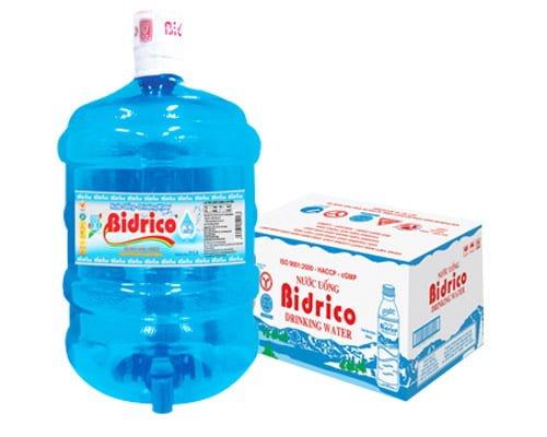 Nước uống tinh khiết bidrico bình 20l được các hộ gia đình lựa chọn
